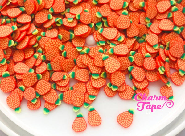 Orange Pineapple Polymer Clay Fruit Slices, Nail Art Slices, Faux Fruit, Miniature Fruit 5mm 3g/15g/50g