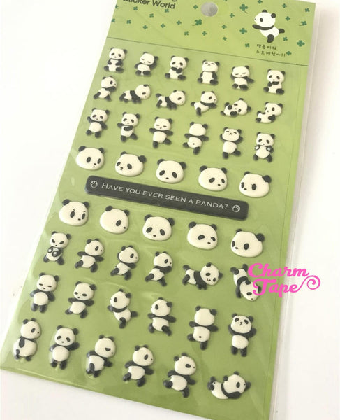 Dancing Panda Stickers Deco Puffy Sticker by Funny Korea SS468 SS280