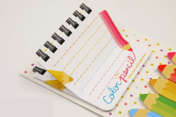 Color Pencil Sticky Post It Memo Note Pad 120 sheets SS739 - CharmTape - 2