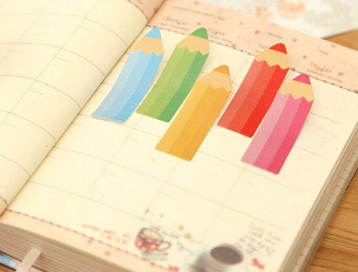 Color Pencil Sticky Post It Memo Note Pad 120 sheets SS739 - CharmTape - 3