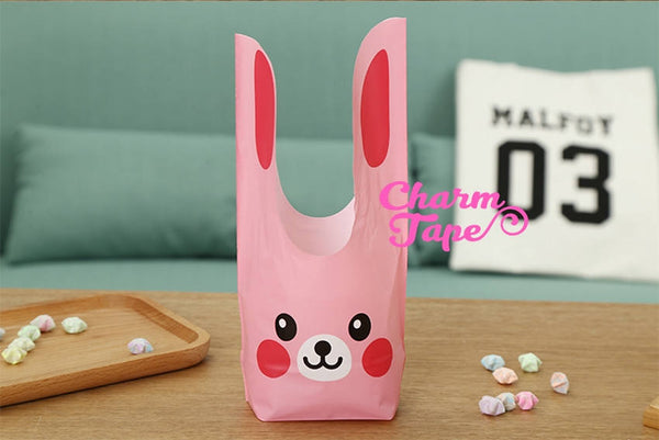Pink Rabbit Bunny Bags // Cello Bags // Party Bags // Self Sealing bags Set of 25 bags CB24 14x24x6.5 cm