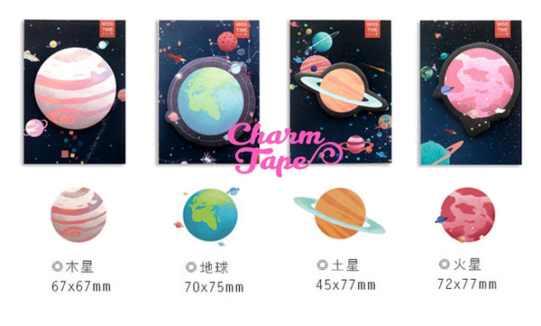 Planets - Sticky Post It Memo Note Pad 30 sheets ss547