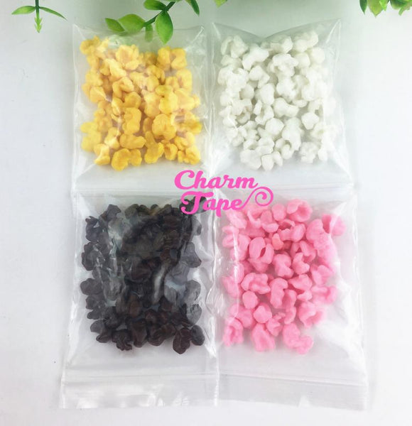 FAKE POPCORN, Faux Popcorn, add-on for decoden crafts and slime, fake food, silicone food M022