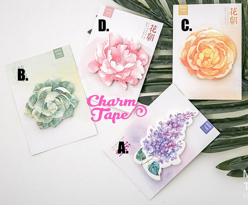 Flowers - Sticky Post-It Memo Note Pad 30 sheets ss549
