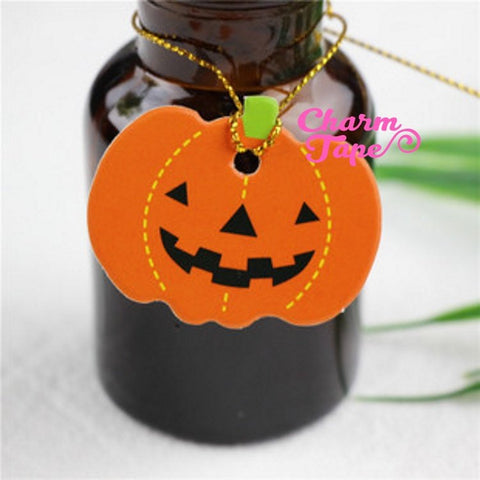 50ct Halloween Pumpkin Paper Tags Packaging / Simple Gift tags / Hang Tags / Party Favors TT06