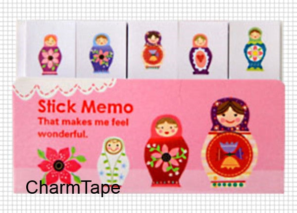 Russian Doll Matryoshka Post It Memo Note Pad 210 sheets SS2678 - CharmTape - 1