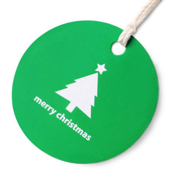 50ct Merry Christmas Festive Tree Paper Tags Packaging / Simple Gift tags / Hang Tags / Party Favors TT03