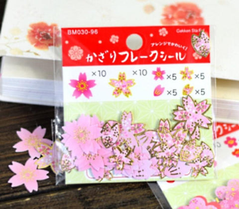 Sakura Flowers stickers Cherry Blossom 40 pieces