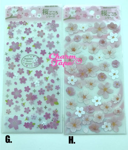 Pink Sakura Flower stickers by Mindwave 1 Sheets