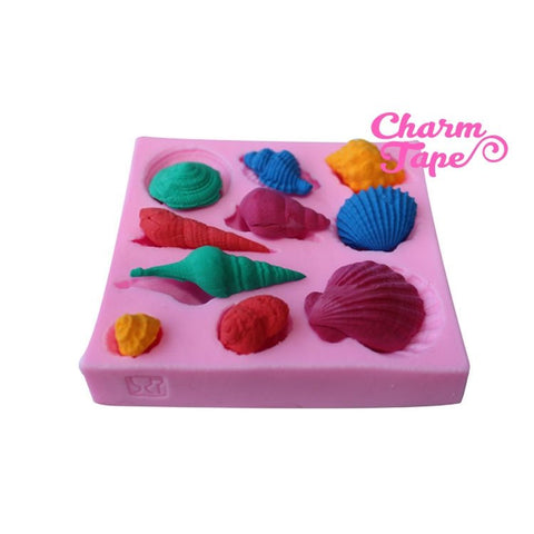 Sea shell Seashells Silicone Mold -food mold / uv resin molds C072 (10 cavity)