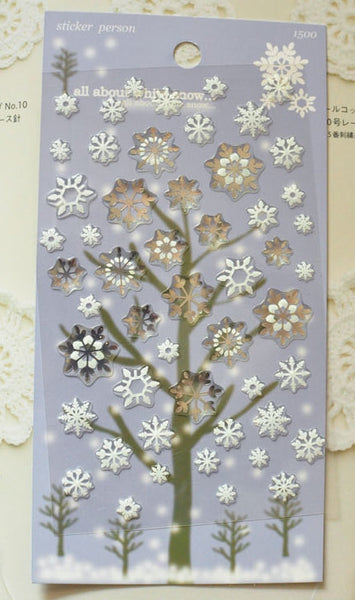 Snowflake Festive Deco stickers art sticker - 1 Sheets SS233