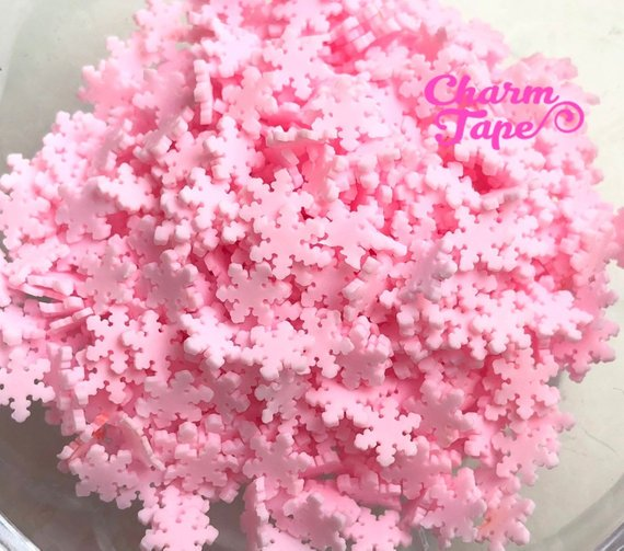 3g/15g/50g Snowflake Polymer Clay Confetti Sprinkles Topping Tiny Decoden Faux Miniature Fake Food Funfetti Rainbow Jimmies 5mm