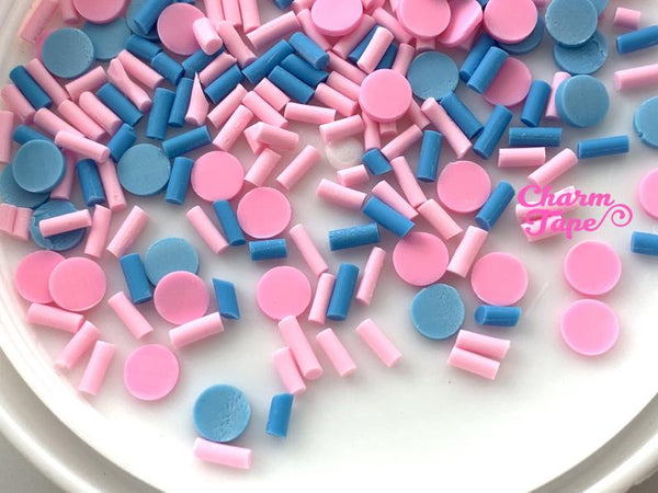 3g/15g/50g Baby Shower Mix sprinkle Confetti polymer clay Holiday Topping Tiny Decoden Faux Miniature Fake Food 5mm SP568