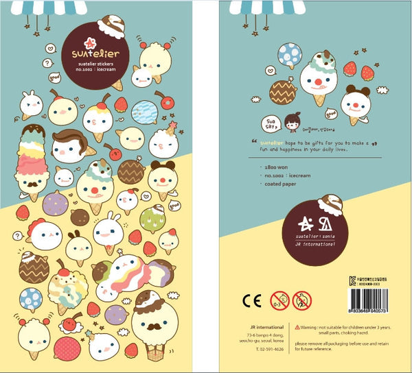 Ice Cream Deco sticker art stickers 1 Sheets by Suatelier SS1002