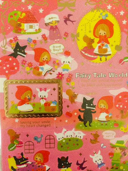 Little red riding hood Sticker 1 Sheets by Kamio SS285 - CharmTape - 3