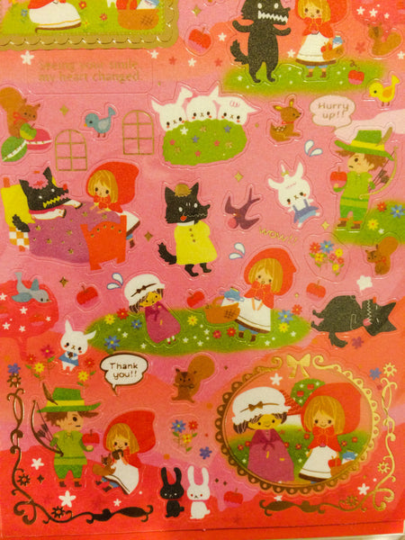 Little red riding hood Sticker 1 Sheets by Kamio SS285 - CharmTape - 2