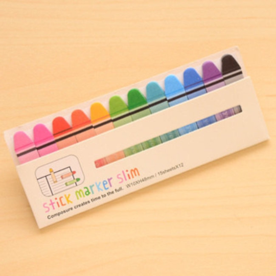 Crayon Sticky Post It Memo Note Pad 180 sheets SS303