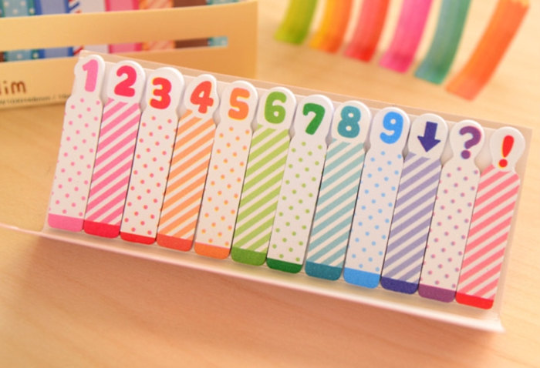 Number Sticky Post It Memo Note Pad 180 sheets SS308