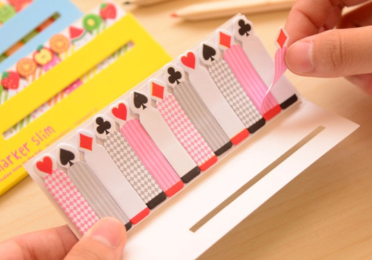 Playing Cards Sticky Post It Memo Note Pad 180 sheets SS310