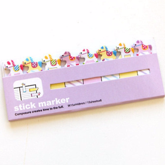 Rocking Horse Sticky Post It Memo Note Pad 120sheets SS316