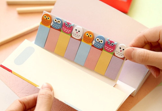 Owl Sticky Post It Memo Note Pad 120 sheets SS319