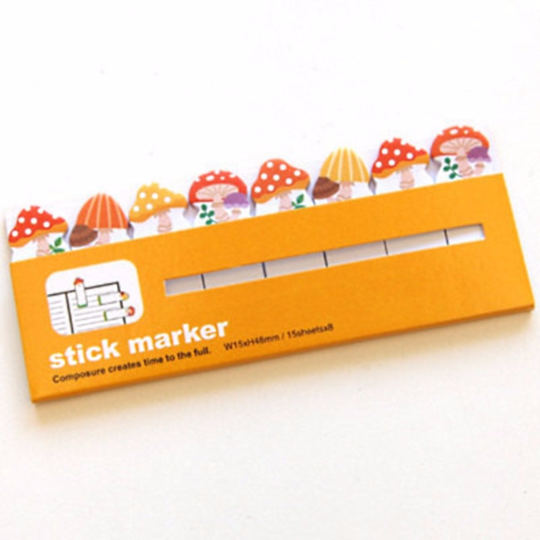 Mushroom Sticky Post It Memo Note Pad 120 sheets SS320