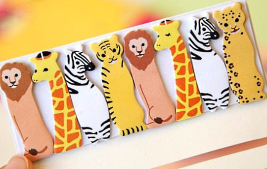 Safari Animal Sticky Post It Memo Note Pad 120sheets SS321 - CharmTape - 1