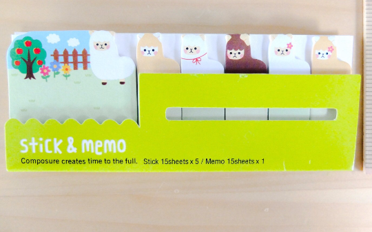 Llama Sticky Post It Memo Note Pad 90 sheets SS726 - CharmTape - 2