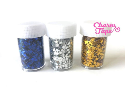 Loose Stars glitters, bottle star glitter UV resin, nail gel, acrylic nail, nail polish glitter No hole Metallic Embellishment Costume Craft