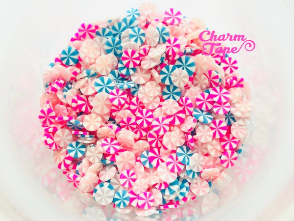 Tri-color Peppermint Mix candy sprinkle Confetti polymer clay Holiday Topping Tiny Decoden Faux Miniature Fake Food 5mm 3g/15g/50g sp017