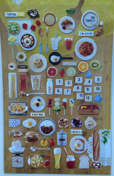 Tempting Food Deco stickers - Suatelier 1 Sheets SS1033