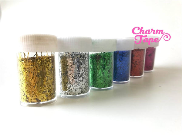 Loose Tinsel glitters, bottle UV resin, nail gel, acrylic nail, nail polish glitter No hole Metallic Embellishment Costume Craft