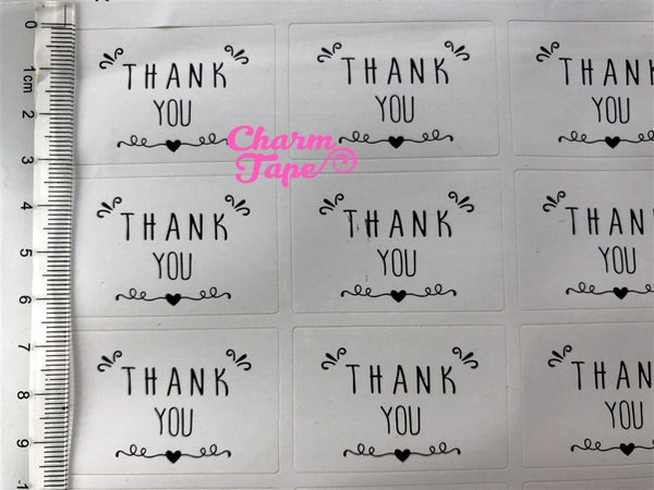 "105/210ct ""Thank you"" Paper Stickers For Gift Packing Packaging GS023"
