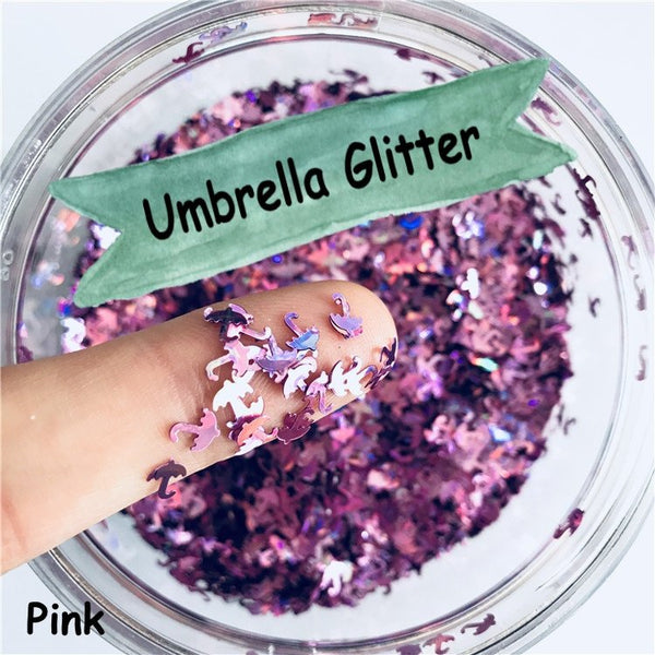 Umbrella Loose glitters 5mm UV resin / Holographic / Solvent Resistant / Slime Art / Nail Art / Resin Jewelry