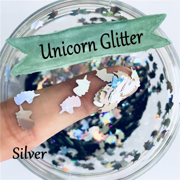 Unicorn Loose glitters 8mm UV resin / Laser / Holographic / Solvent Resistant / Slime Art / Nail Art / Resin Jewelry