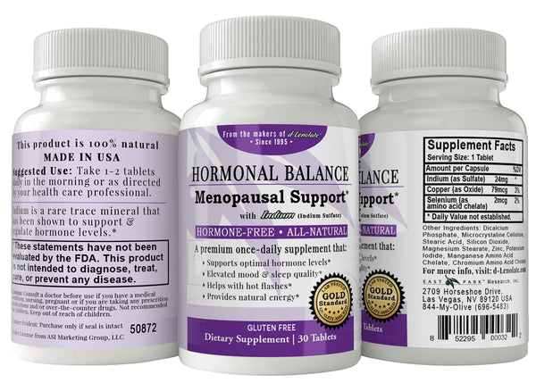Hormonal Balance Menopausal Support with Indium, 30ct Tablets - Wellness Works