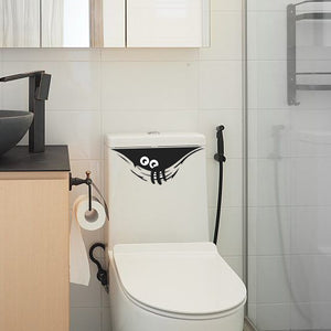 Hiding Monster Toilet Decal 2