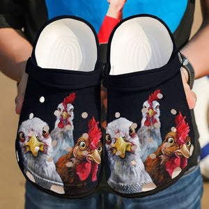 CURIOUS CHICKENS - FUNNY CHICKEN CROCS