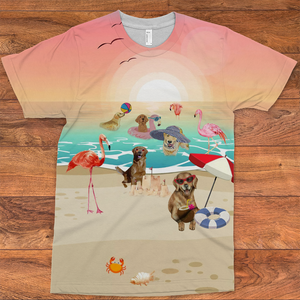 golden retriever beach