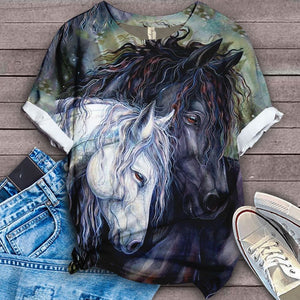 Horse Lovers Gorgeous Art T-Shirt 17