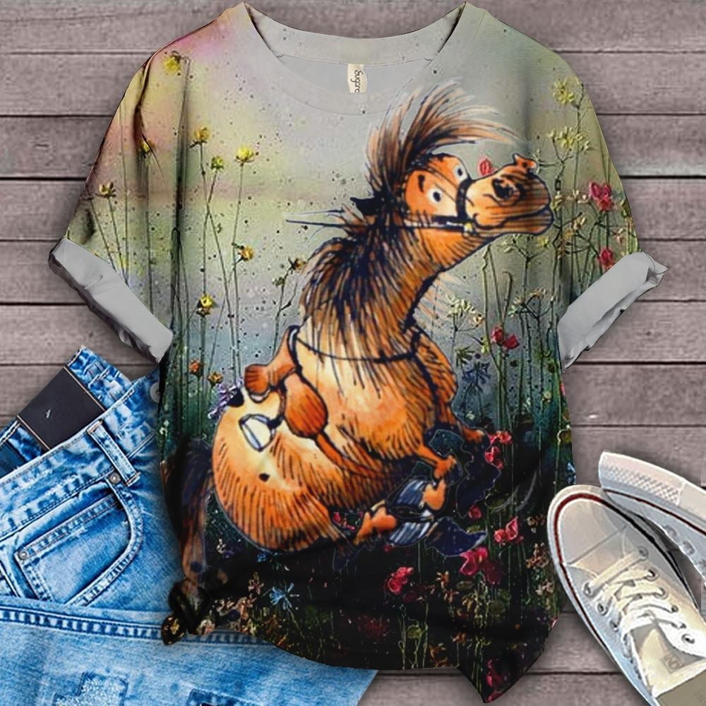 Horse Lovers Gorgeous Art T-Shirt 7