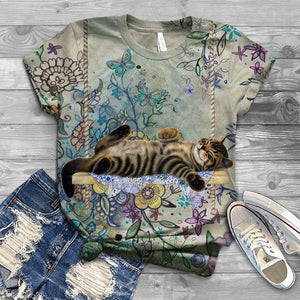 Cat Designed Art T-Shirt 8