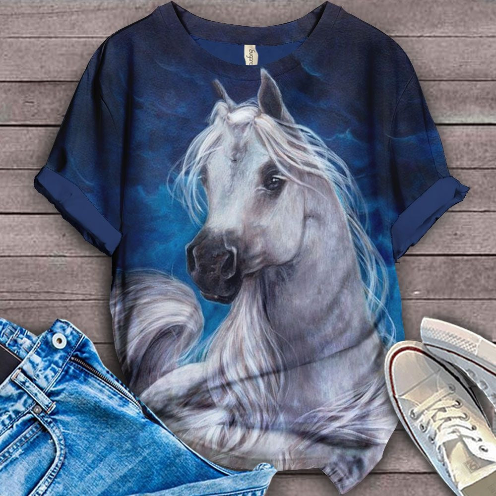 Horse Lovers Gorgeous Art T-Shirt 15