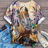 Horse Lovers Gorgeous Art T-Shirt 29