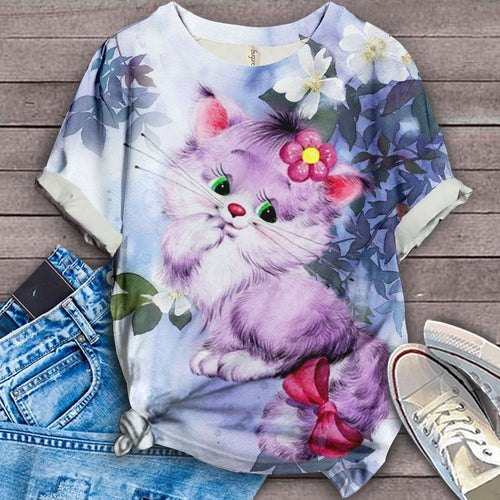 Cat Floral Love You 5