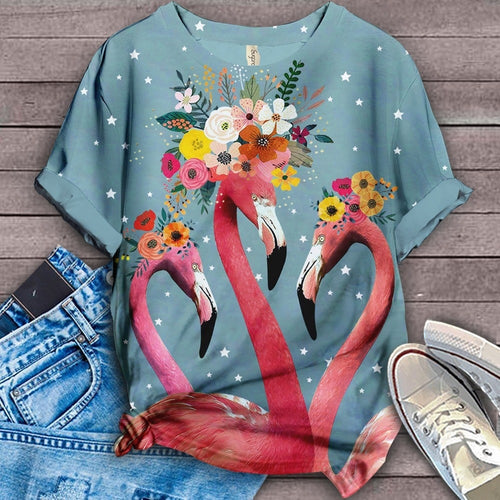 Flamingo Lovers Classic T-Shirt 13