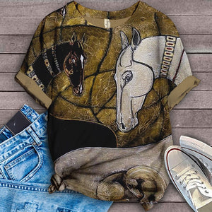 Horse Lovers Gorgeous Art T-Shirt 10