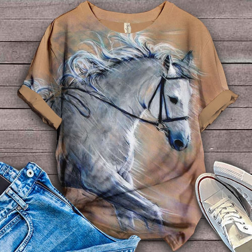 Horse Lovers Gorgeous Art T-Shirt 12