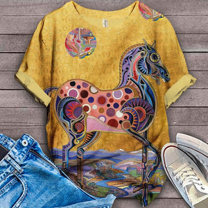 Horse Lovers Gorgeous Art T-Shirt 16