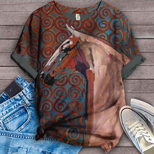 Horse Lovers Gorgeous Art T-Shirt 9